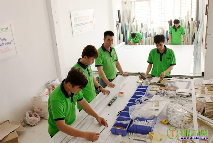 kho xưởng sản xuất rèm sáo Tín Tâm