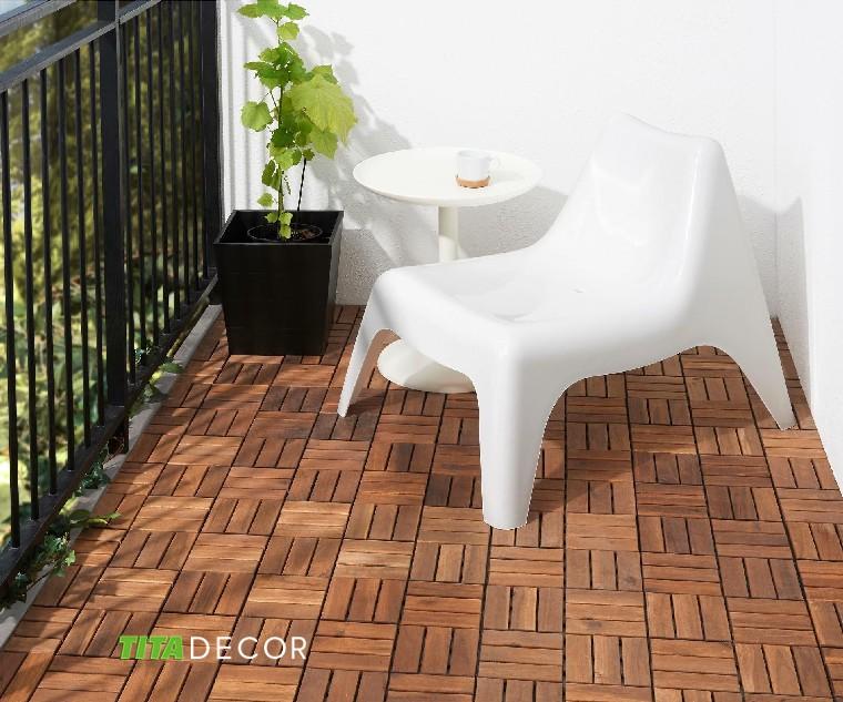 sàn gỗ lót ban công